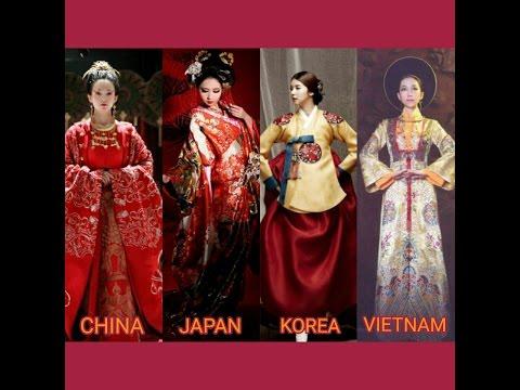 [Sinosphere] China, Japan, Korea, Vietnam Traditional Dresses - Beauties Of Asia