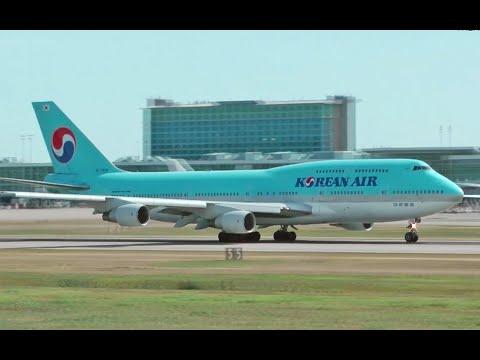 Korean Air Boeing 747-400 Takeoff from YVR