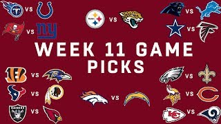 Week 11 NFL Game Picks   NFL