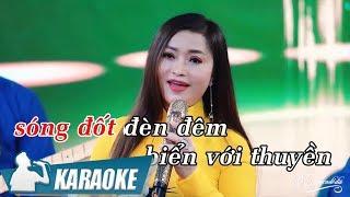 Karaoke Biển Tím (Tone Nữ) - Lam Quỳnh | Nhạc Vàng Bolero Karaoke