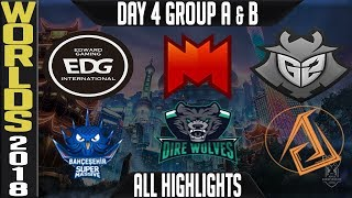 Worlds 2018 Day 4 Highlights Play in Stage ALL GAMES