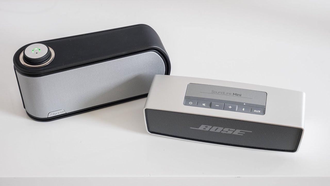 audiotest klipsch gig vs bose soundlink mini youtube. Black Bedroom Furniture Sets. Home Design Ideas