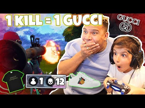 1 KILL = 1 GUCCI W/ 6 YEAR OLD (Fortnite Battle Royale Gameplay)