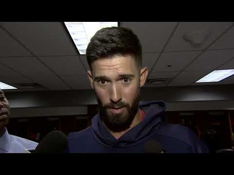 Rick Porcello Reacts Following Win Over Rockies
