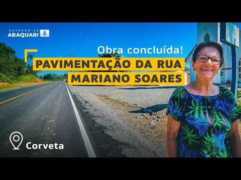 Obra de pavimentação da rua Mariano Soares está 100% concluída