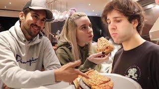 DELIVERY VS. FROZEN PIZZA TASTE TEST CHALLENGE!!