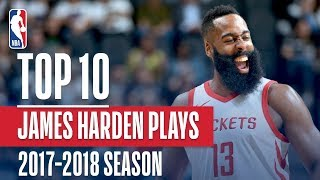 James Harden's Top 10 Plays of the 2017-2018 NBA Season | NBA MVP Nominee