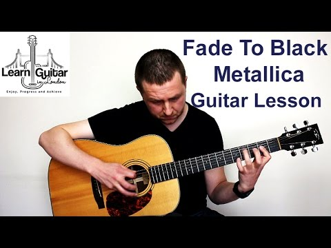 metallica fade to black guitar lesson with tabs fade to black metal. Black Bedroom Furniture Sets. Home Design Ideas