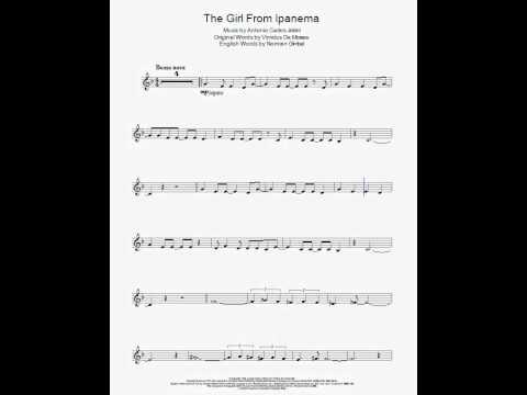 Partitura para clarinete - Antonio Carlos Jobim - La chica de Ipanema