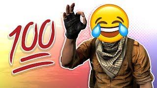 """CS:GO FUNTAGE! - """"100 Hundred"""" Emoji, Door Stuck & Chicken Stuck! (CS:GO Funny Moments)"""