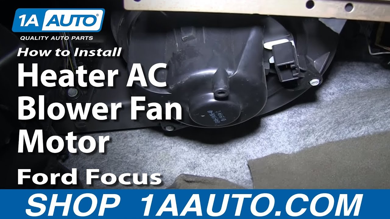 How To Install Replace Heater Ac Blower Fan Motor 2000 07