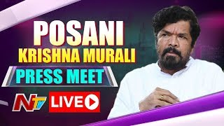 Posani Krishna Murali Press Meet on TRS Victory - Live..