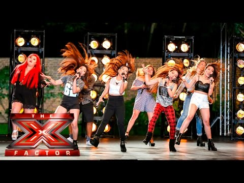 Group 13 cover Tina Turner's Proud Mary | Boot Camp | The X Factor UK 2015