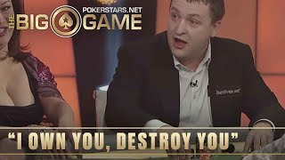 The Big Game S2 ♠️ E26 ♠️ Phil Hellmuth vs Tony G: INTENSE needling ♠️ PokerStars Global