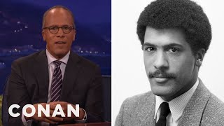 Why Lester Holt Retired His Mustache  - CONAN on TBS