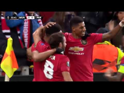 Martial amazing solo goal, and Rashford's banger. (uel man. united vs, partizan )