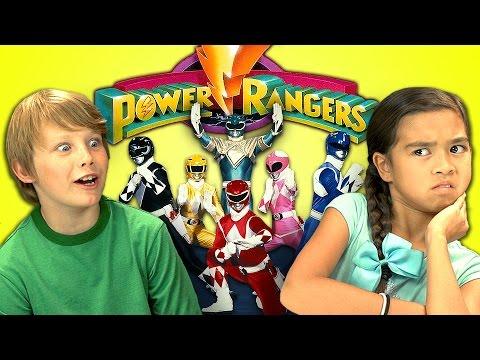 Kids react to power rangers
