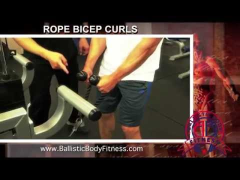 Rope Bicep Curls for strong arms - BBF 90 Day Fitness Challenge Instruction Video #50