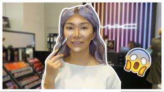 FULL FACE Using MAC Tester Makeup!?   Nikita Dragun