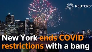 Cuomo ends New York's restrictions with fireworks