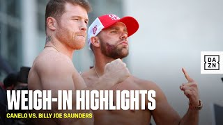 HIGHLIGHTS | Canelo vs. Billy Joe Saunders Weigh-In