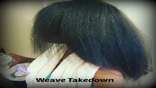 Weave Take down 2015 Damage free method * on natural hair*