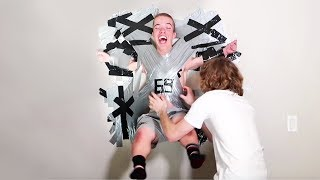 Taped To The Wall Prank!