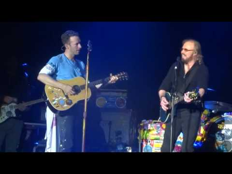 Coldplay &  Barry Gibb - To Love Somebody - Glastonbury 2016