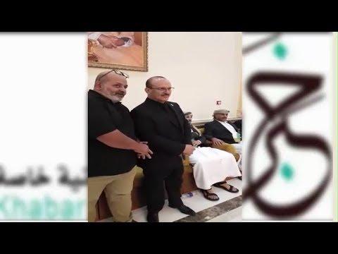 جانب من مراسيم العزاء في وفاة كنعان يحيي صالح في العاصمة العمانية مسقط
