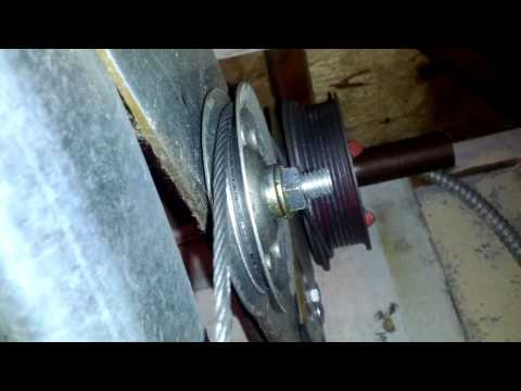 How To Fix A Noisy Garage Door With A Pulley Cable System