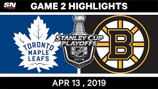 NHL Highlights | Maple Leafs vs Bruins, Game 2 – Apr 13, 2019