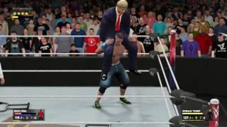 Donald Trump vs John Cena . President USA vs WWE Universe !