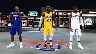 LEBRON JAMES KAWHI LEONARD and PAUL GEORGE TAKE OVER the PARK in NBA2K20