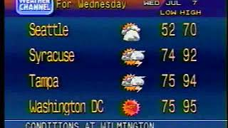 The Weather Channel local forecast (1993)