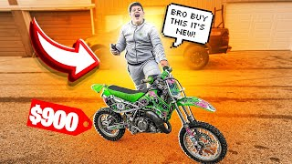 LITTLE BROTHER IS MAKING ME BUY A KX65 FOR $900 !  | BRAAP VLOGS