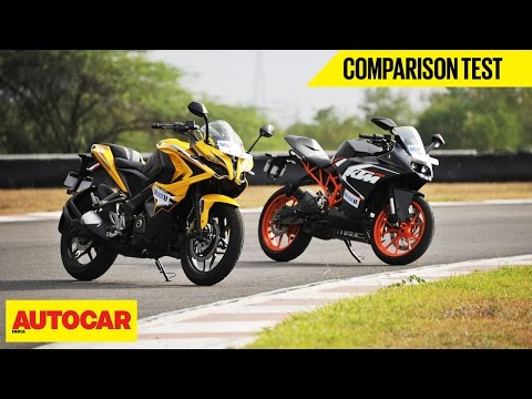 Bajaj Pulsar RS 200 VS KTM RC 200 | Comparison Test | Autocar India