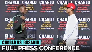 JERMELL CHARLO VS JEISON ROSARIO (FULL FACE OFF & FINAL PRESS CONFERENCE)