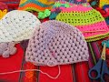 "Gorro  Bebé Punto Puff Crochet ""Lila"" (1)  por Maricita Colours Subtitles in English & Deutsch"