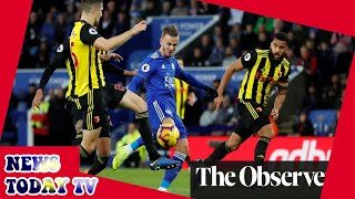 Leicester's James Maddison cuts down Watford with sublime volley