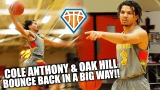 Cole Anthony & Oak Hill BOUNCE BACK IN A BIG WAY!! | Catches NASTY DUNK to Close Out Game