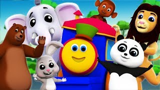 The Animal Sounds Song | Bob The Train Cartoons | Learning Videos For Kids