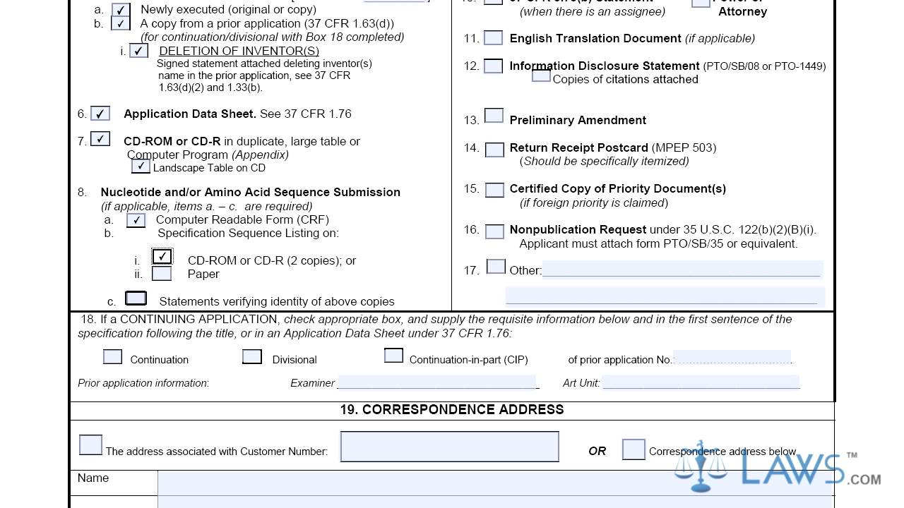 Form utility examples bing images for Utility patent application template
