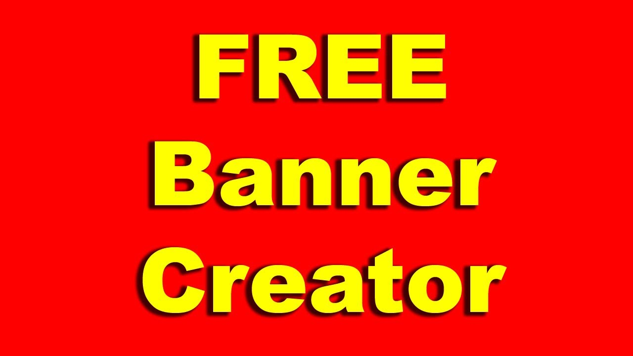 How to Create a Free Ad Banner | Banner Generator - YouTube