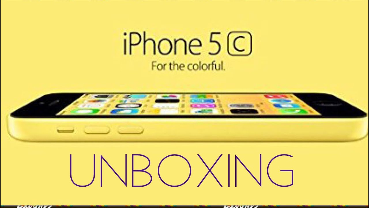 iPhone 5c yellow unboxing - YouTube