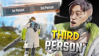 *SECRET* WAY TO ENABLE 3RD PERSON - Best Apex Legends Funny Moments and Gameplay Ep 297