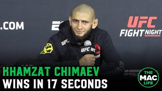 Khamzat Chimaev thought Gerald Meerschaert didn't want to be there ahead of one-punch knockout