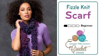 How to Knit a Scarf: with Fizzle Yarn by Red Heart Boutique