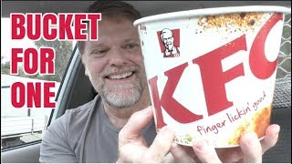 KFC Bucket For One Review - Fried Chicken Mukbang