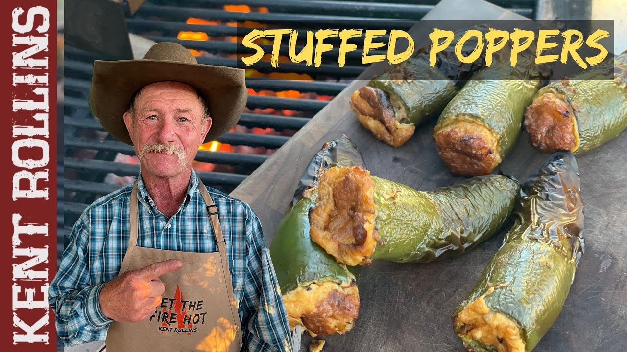 Stuffed Jalapeno Poppers | Smoked Seafood Stuffed Poppers