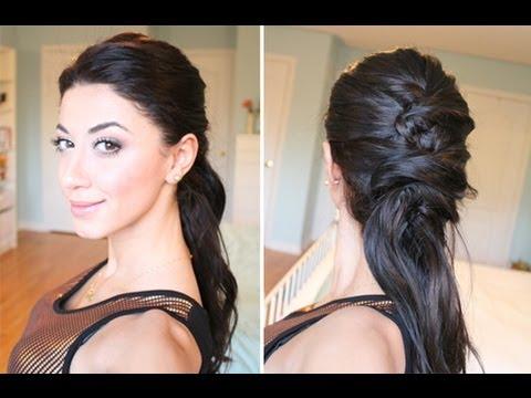 Astonishing Upside Down French Braid Bun Style Hair Video Short Hairstyles Gunalazisus